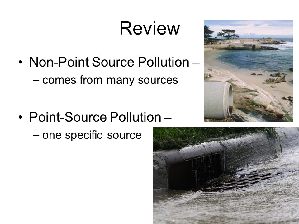Review Non-Point Source Pollution – Point-Source Pollution –
