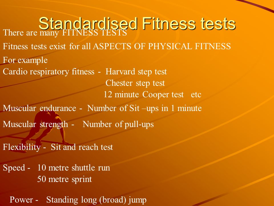 Standardised Fitness tests
