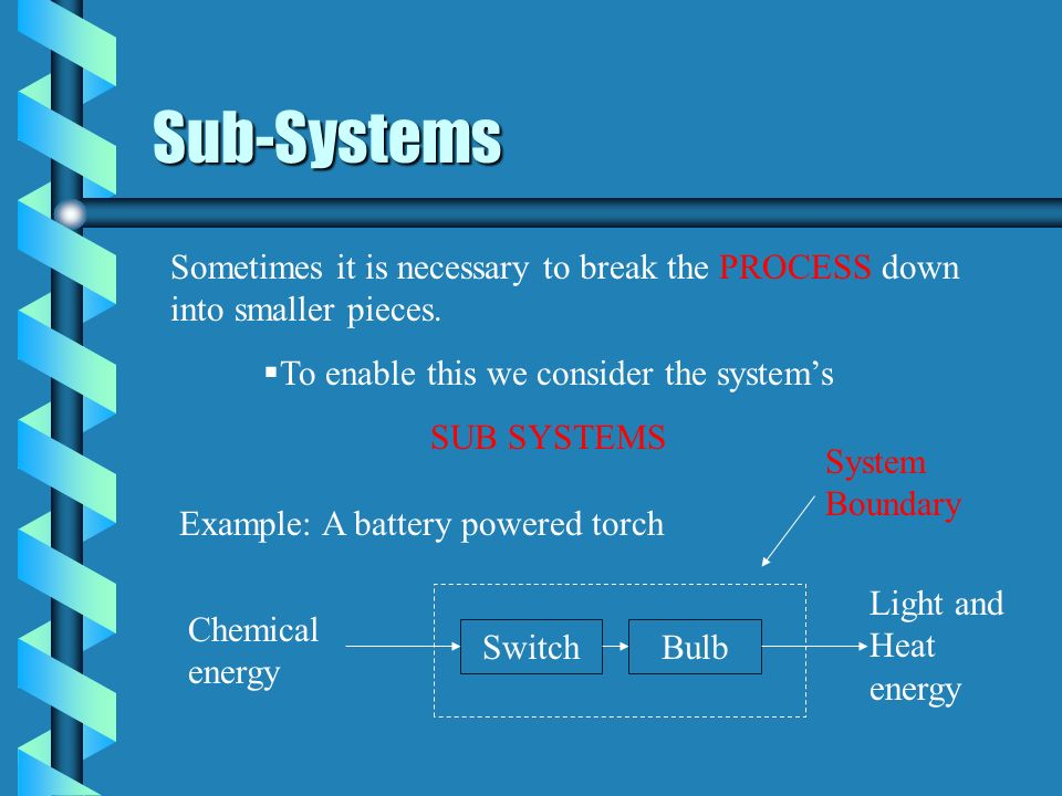 To enable this we consider the system's