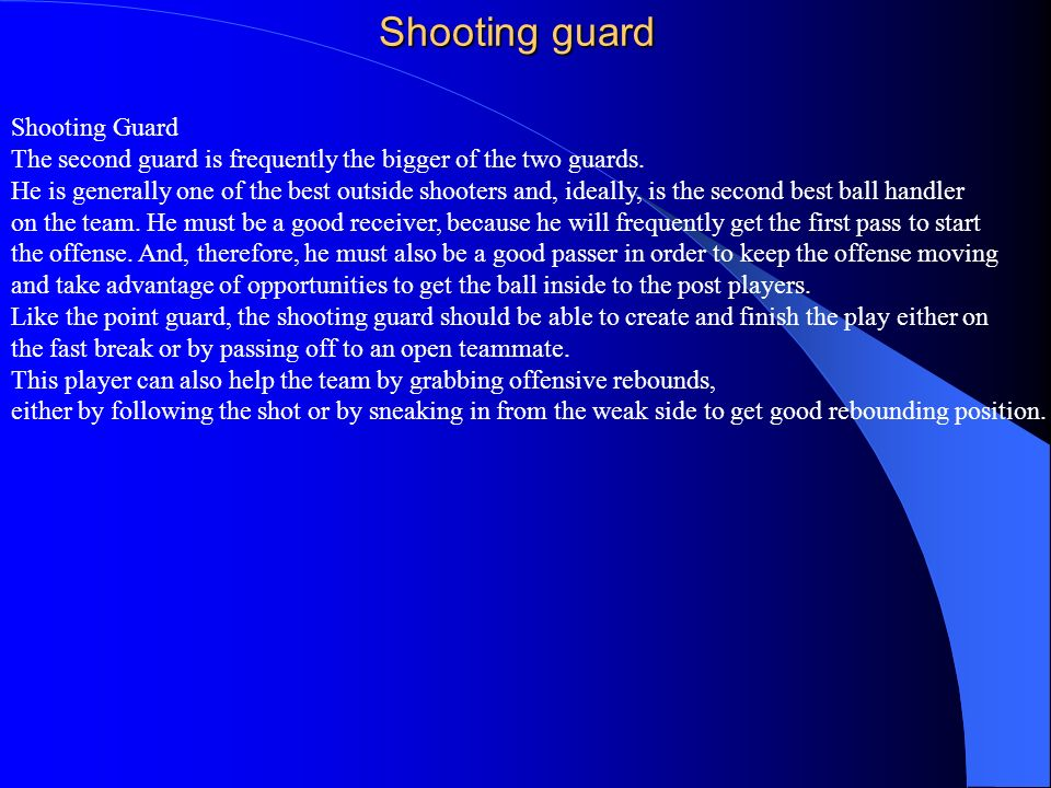 Shooting guard Shooting Guard