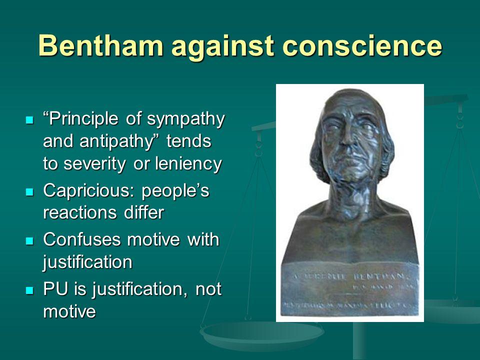 Bentham against conscience