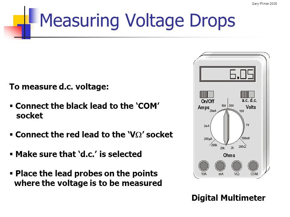 Measuring Voltage Drops