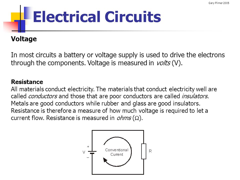 Electrical Circuits Voltage