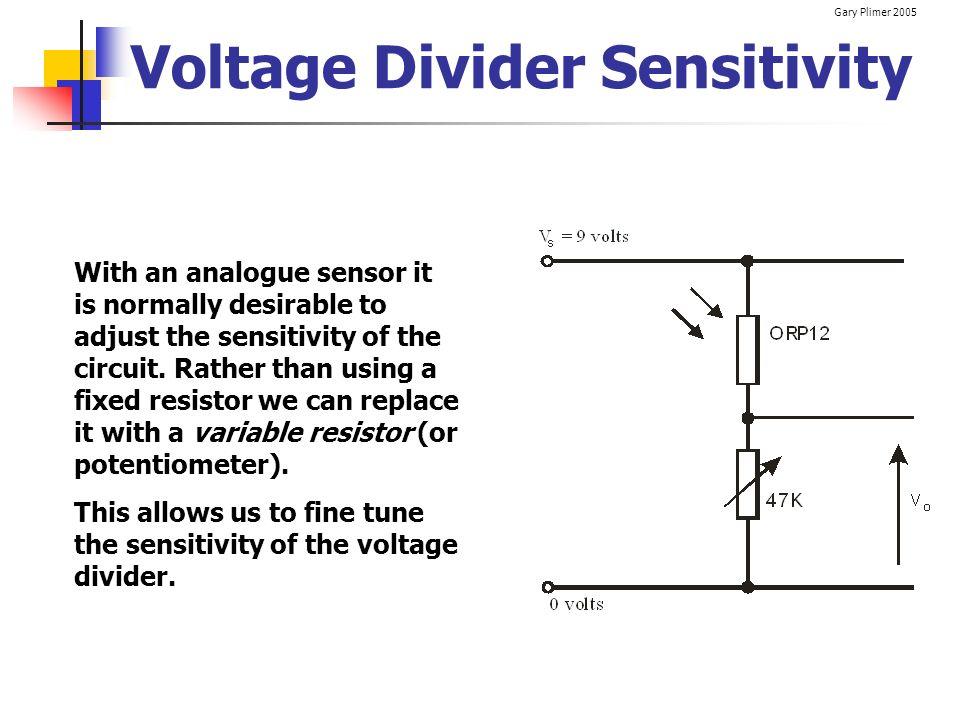 Voltage Divider Sensitivity