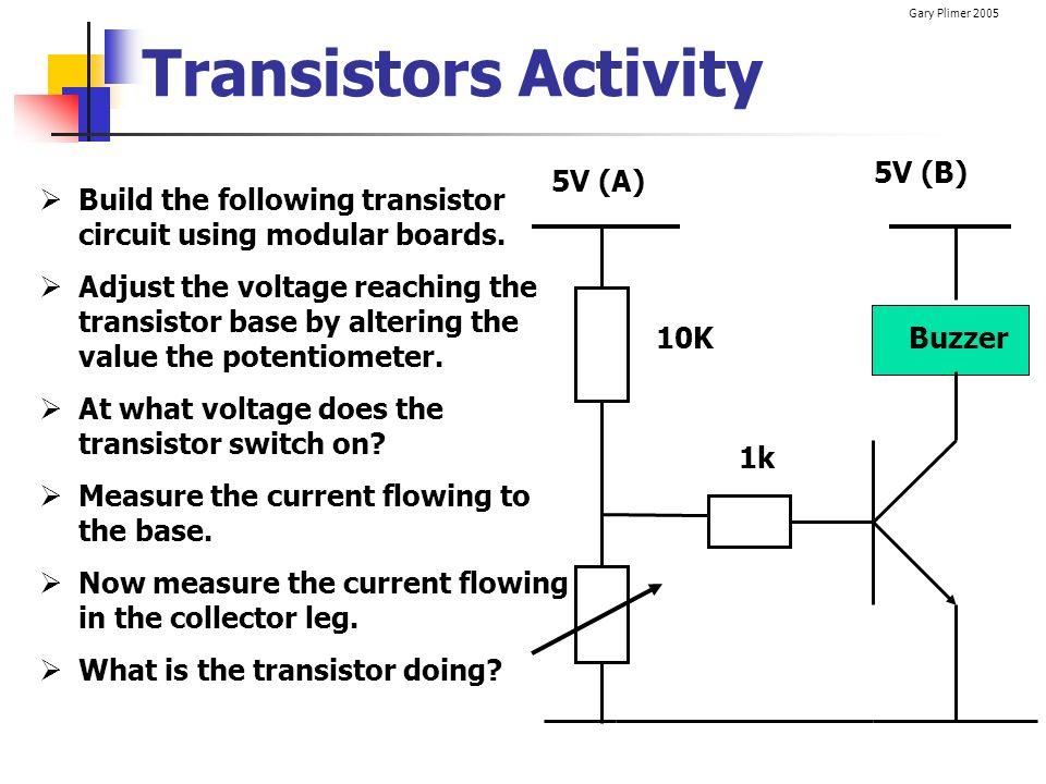 Transistors Activity 5V (B) 5V (A)