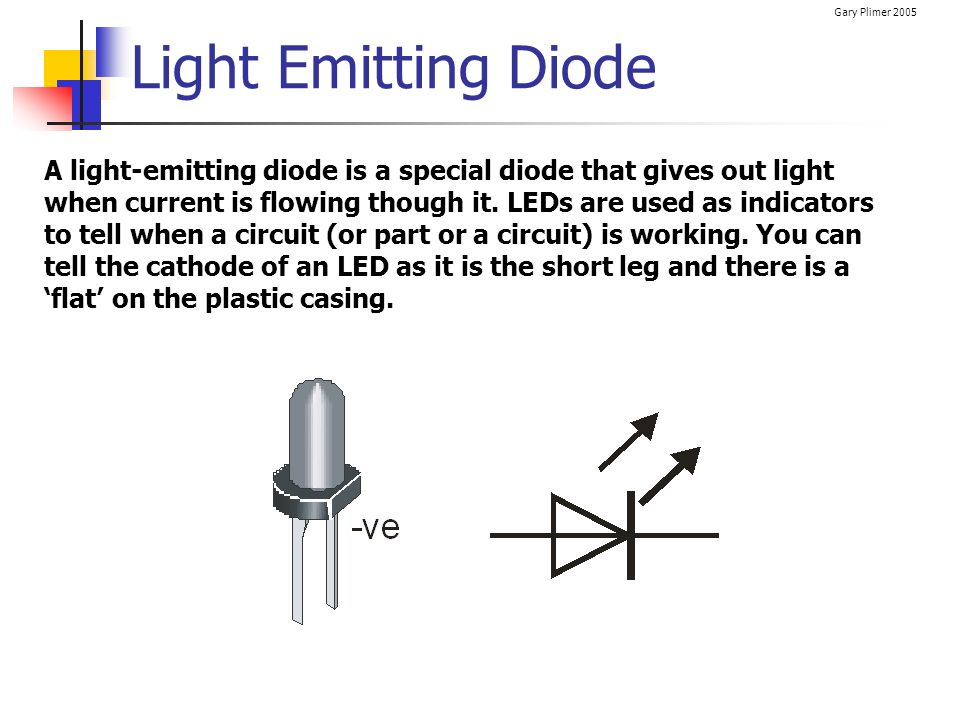 Light Emitting Diode : Electrical circuits electronics ppt download