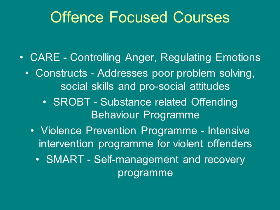 Offence Focused Courses