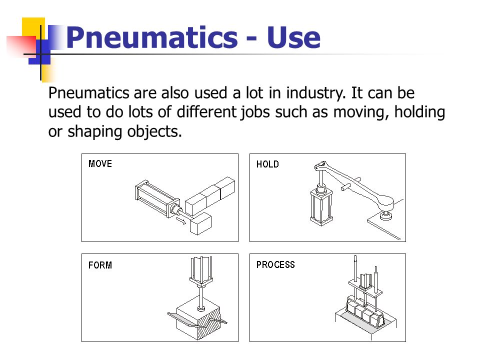 Pneumatics - Use Pneumatics are also used a lot in industry.