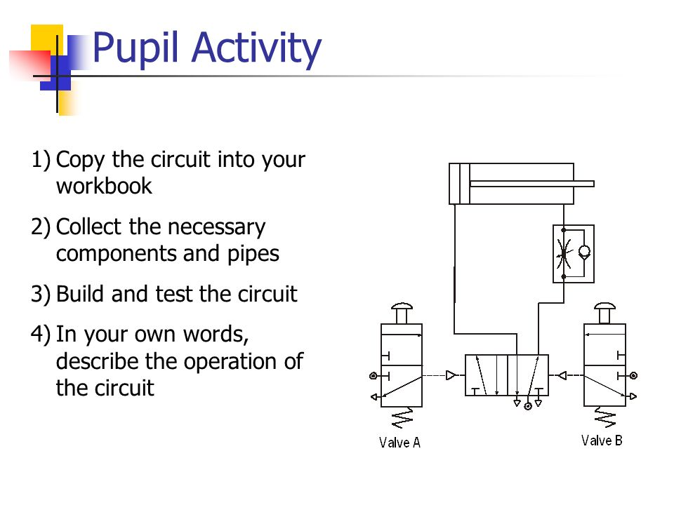 Pupil Activity Copy the circuit into your workbook