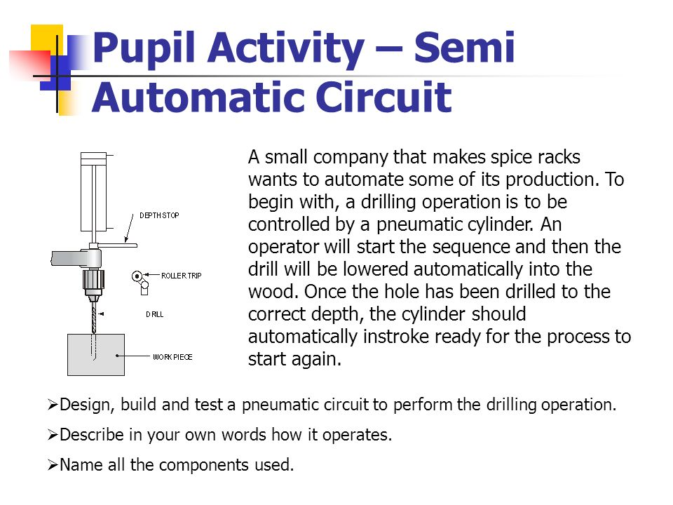 Pupil Activity – Semi Automatic Circuit