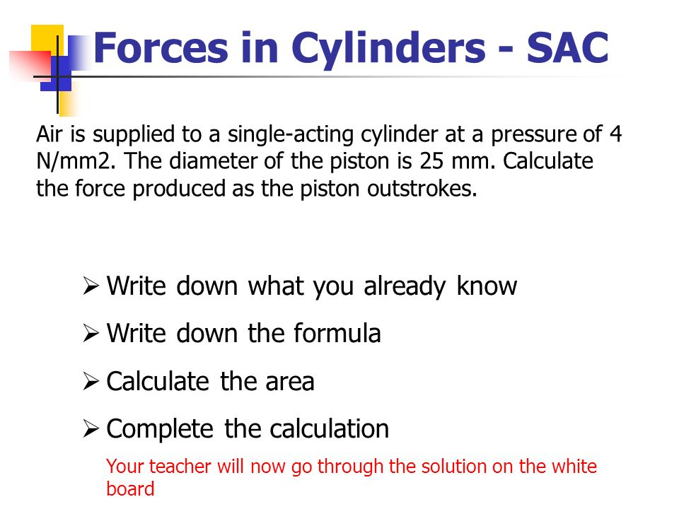 Forces in Cylinders - SAC