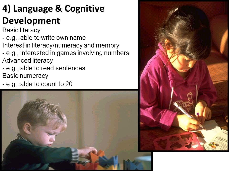 4) Language & Cognitive Development