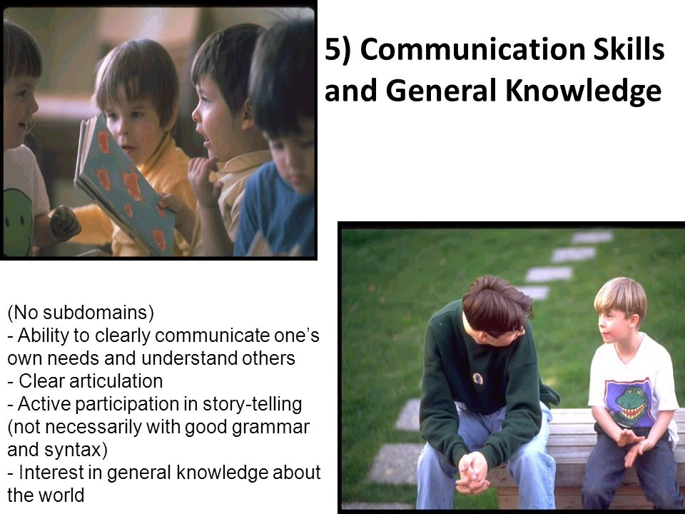 5) Communication Skills and General Knowledge