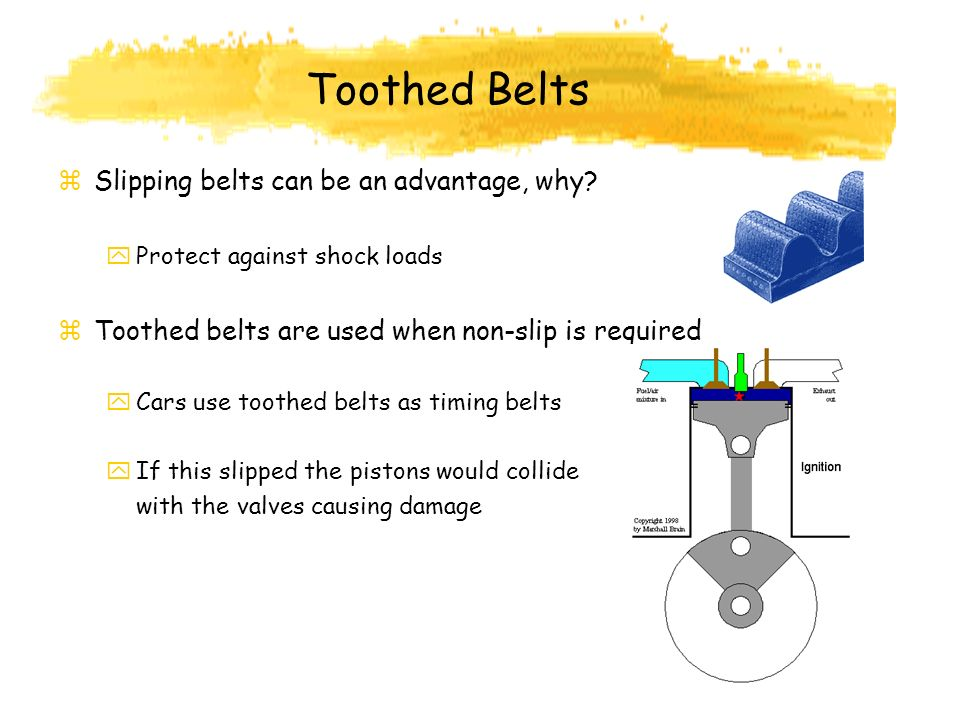 Toothed Belts Slipping belts can be an advantage, why