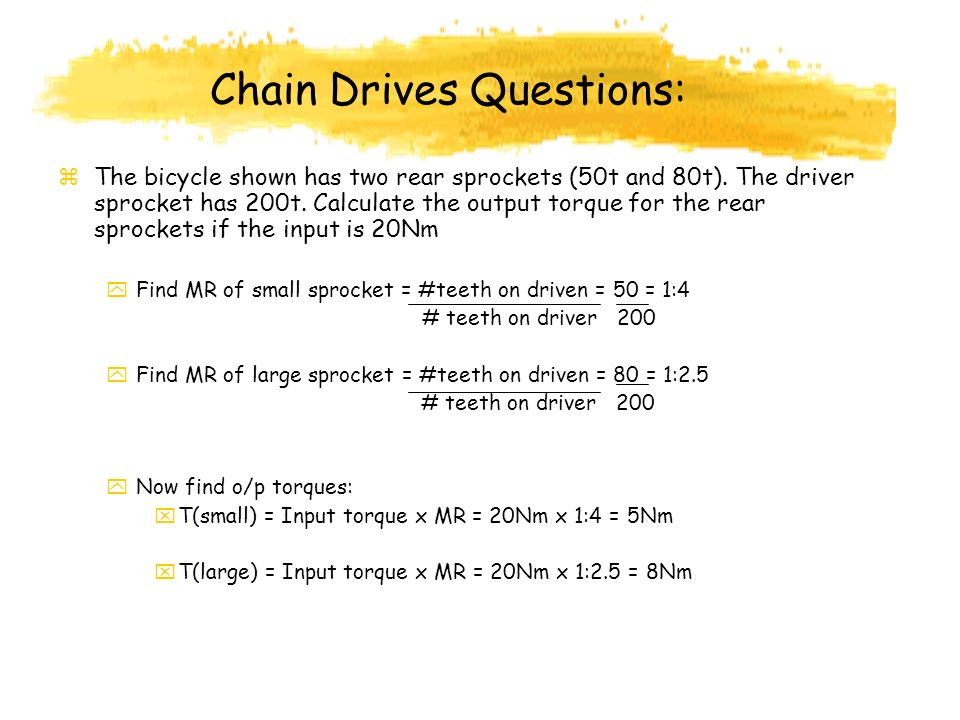 Chain Drives Questions: