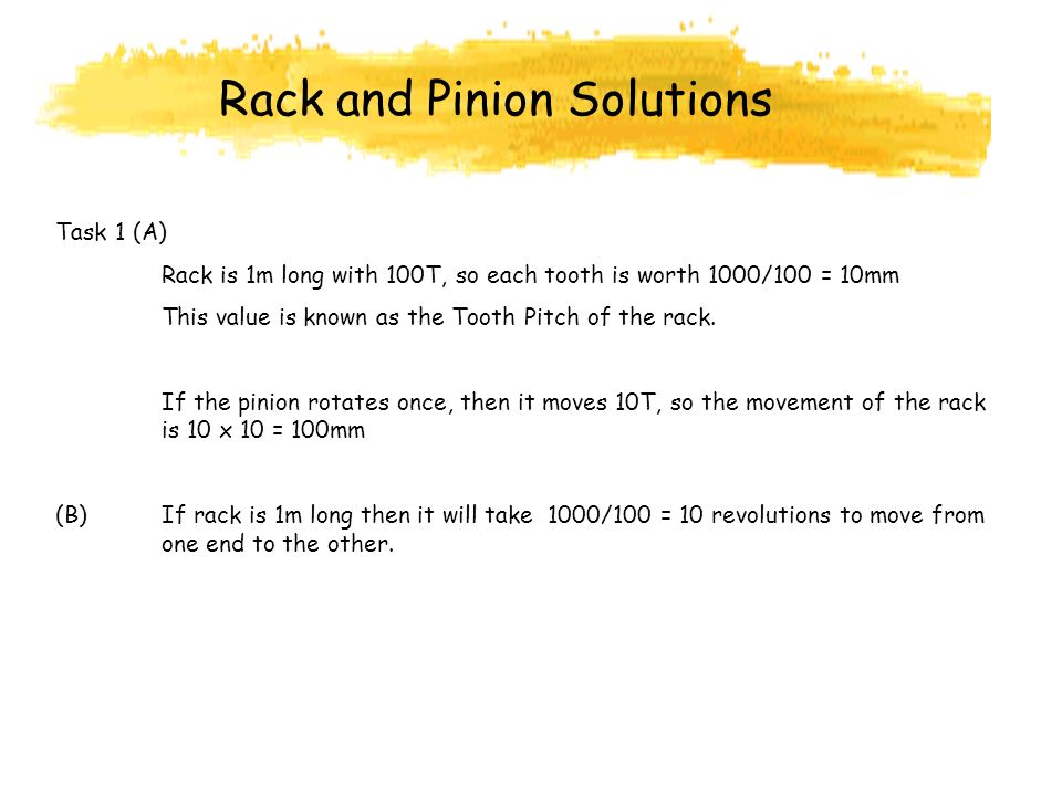 Rack and Pinion Solutions