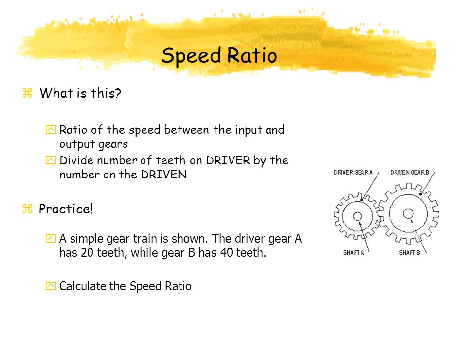 Speed Ratio What is this Practice!