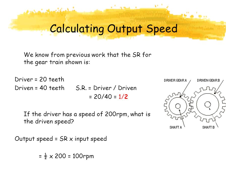 Calculating Output Speed