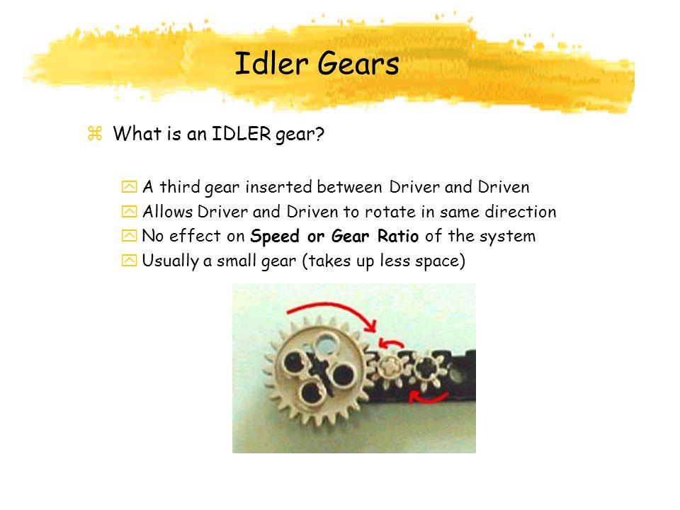 Idler Gears What is an IDLER gear
