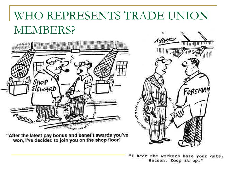 WHO REPRESENTS TRADE UNION MEMBERS