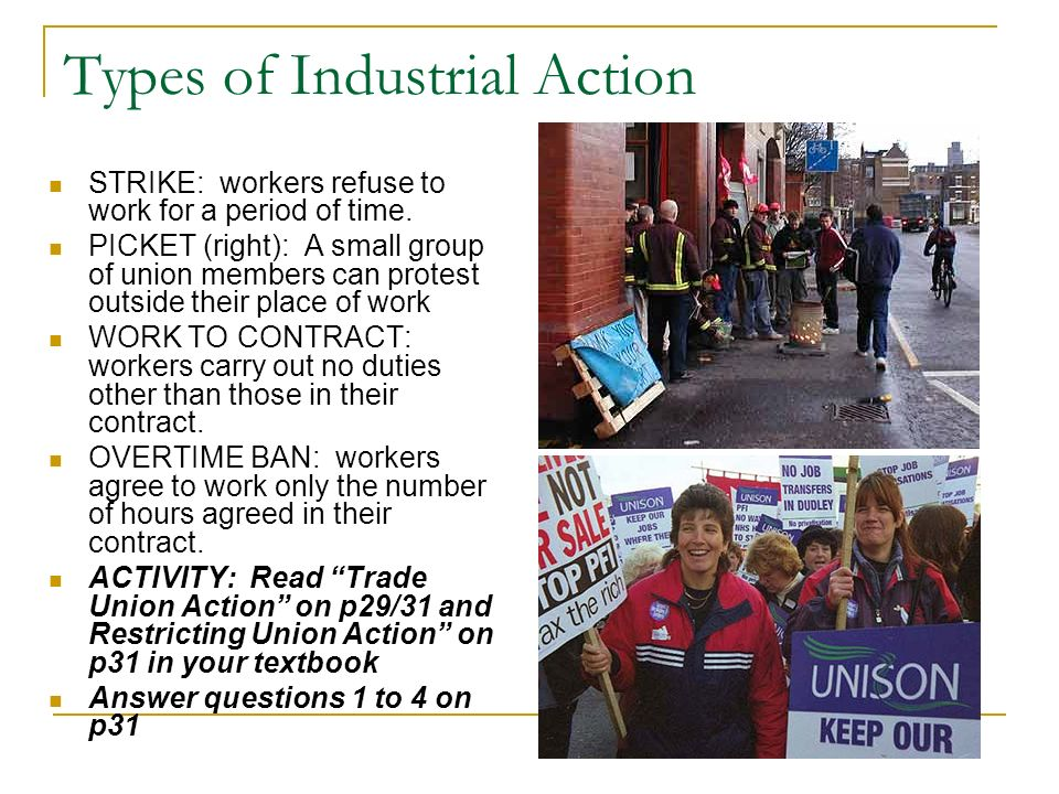 Types of Industrial Action