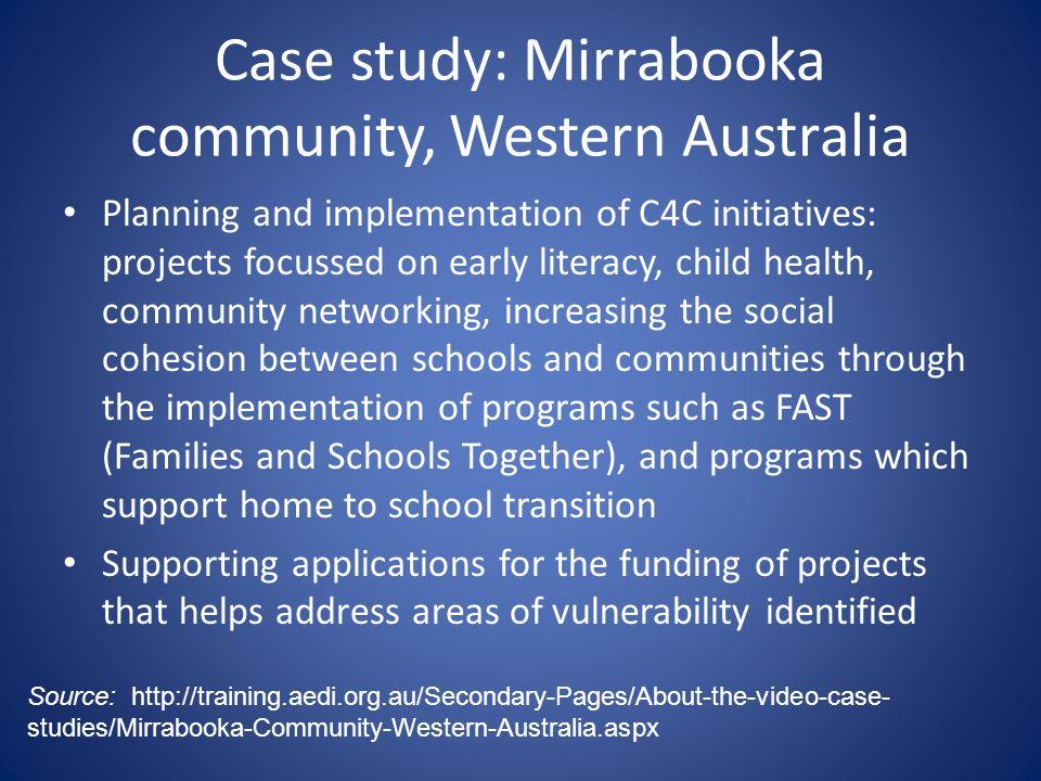 Case study: Mirrabooka community, Western Australia