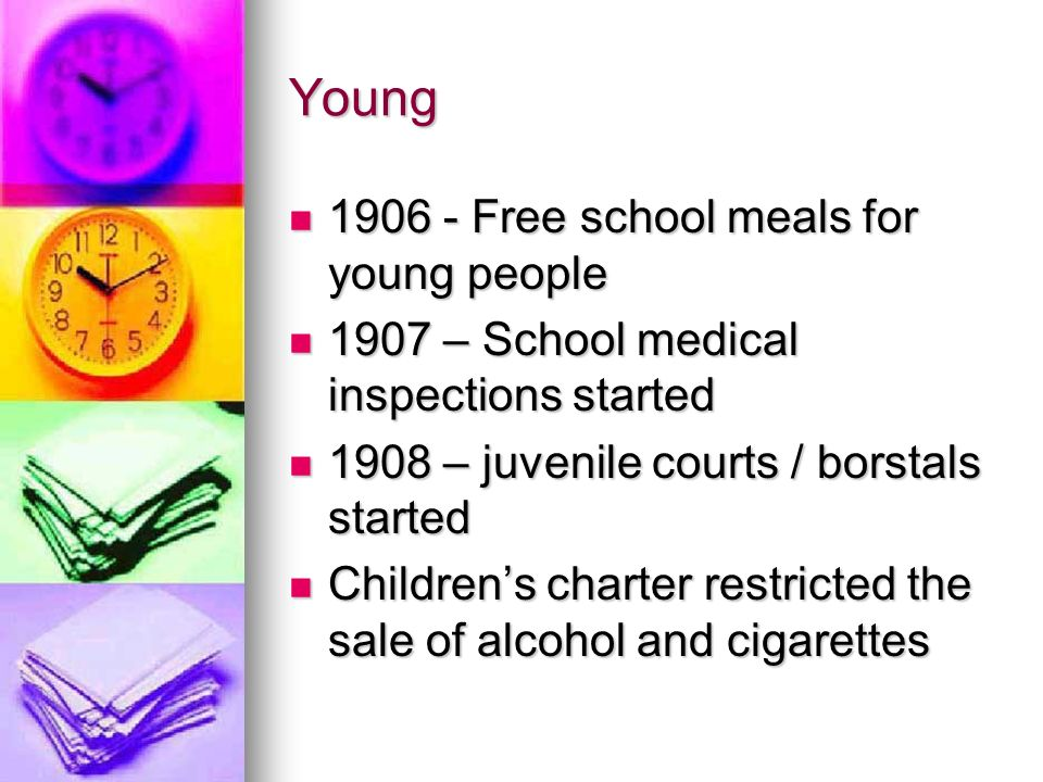 Young Free school meals for young people