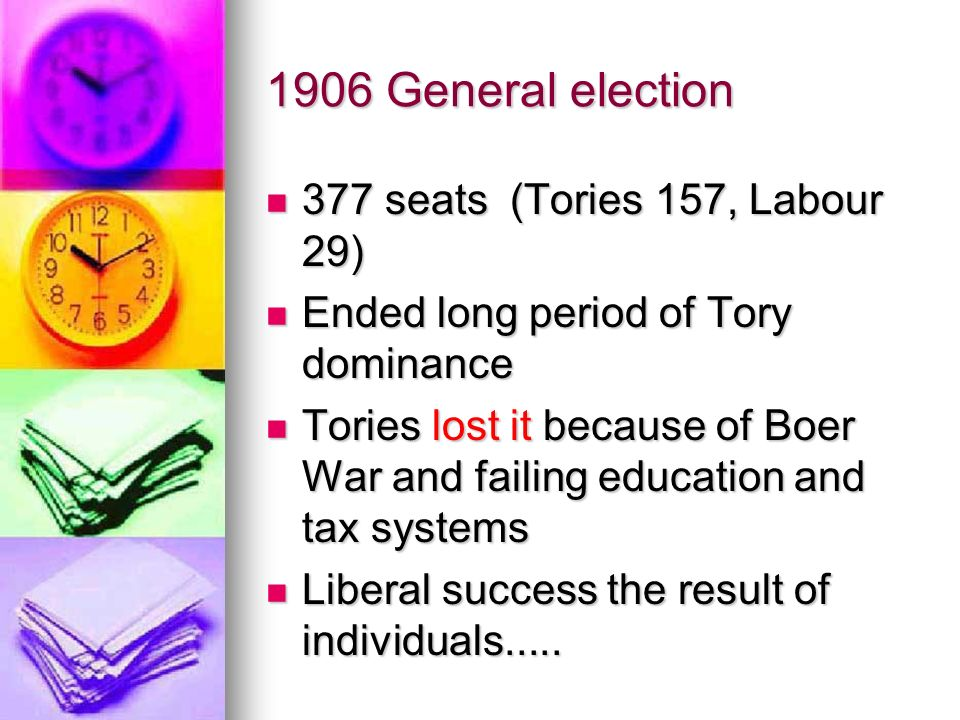 1906 General election 377 seats (Tories 157, Labour 29)