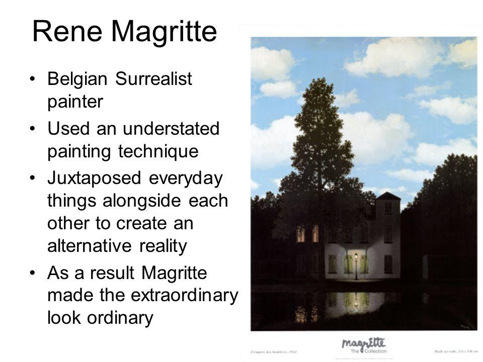 Rene Magritte Belgian Surrealist painter