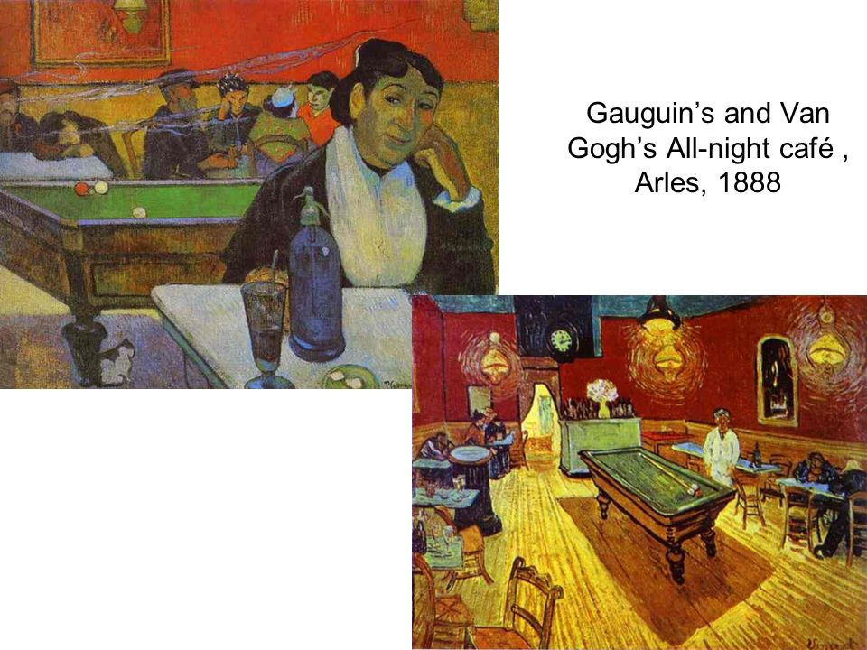 Gauguin's and Van Gogh's All-night café , Arles, 1888