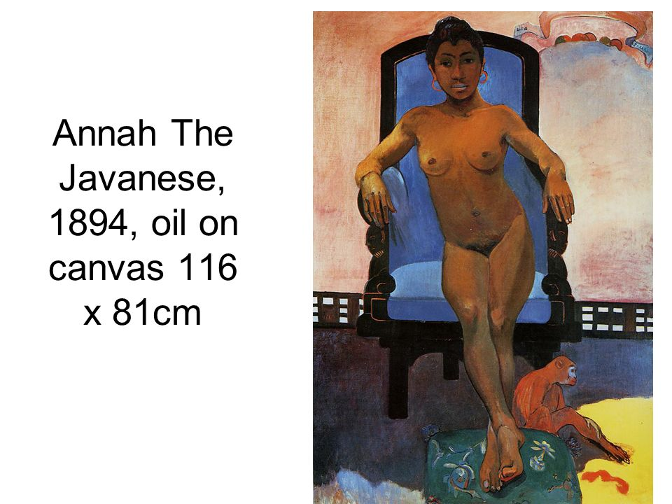 Annah The Javanese, 1894, oil on canvas 116 x 81cm