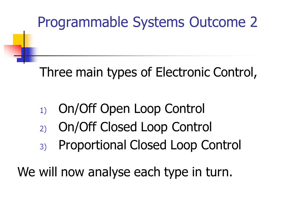 Programmable Systems Outcome 2