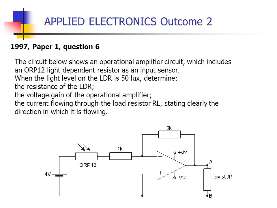 APPLIED ELECTRONICS Outcome 2