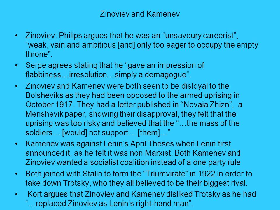 Zinoviev and Kamenev