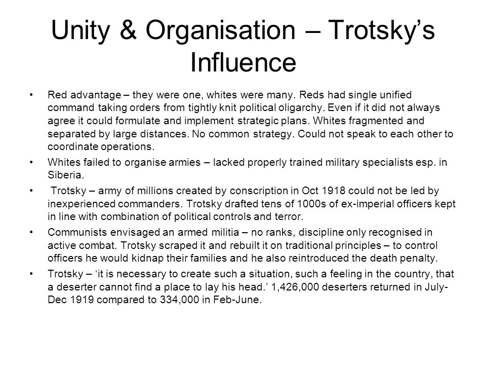Unity & Organisation – Trotsky's Influence
