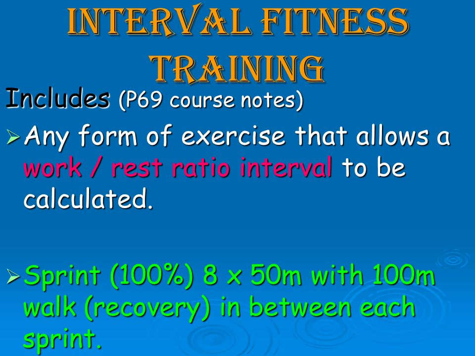 Interval Fitness Training