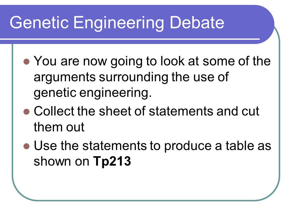Genetic Engineering Debate