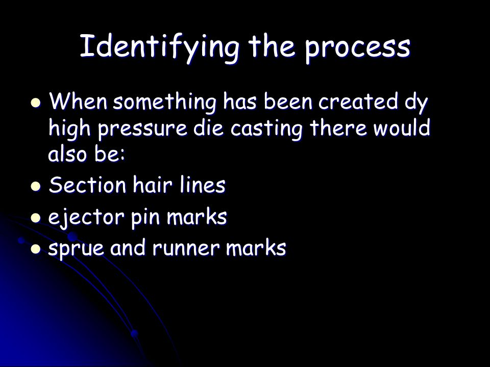 Identifying the process