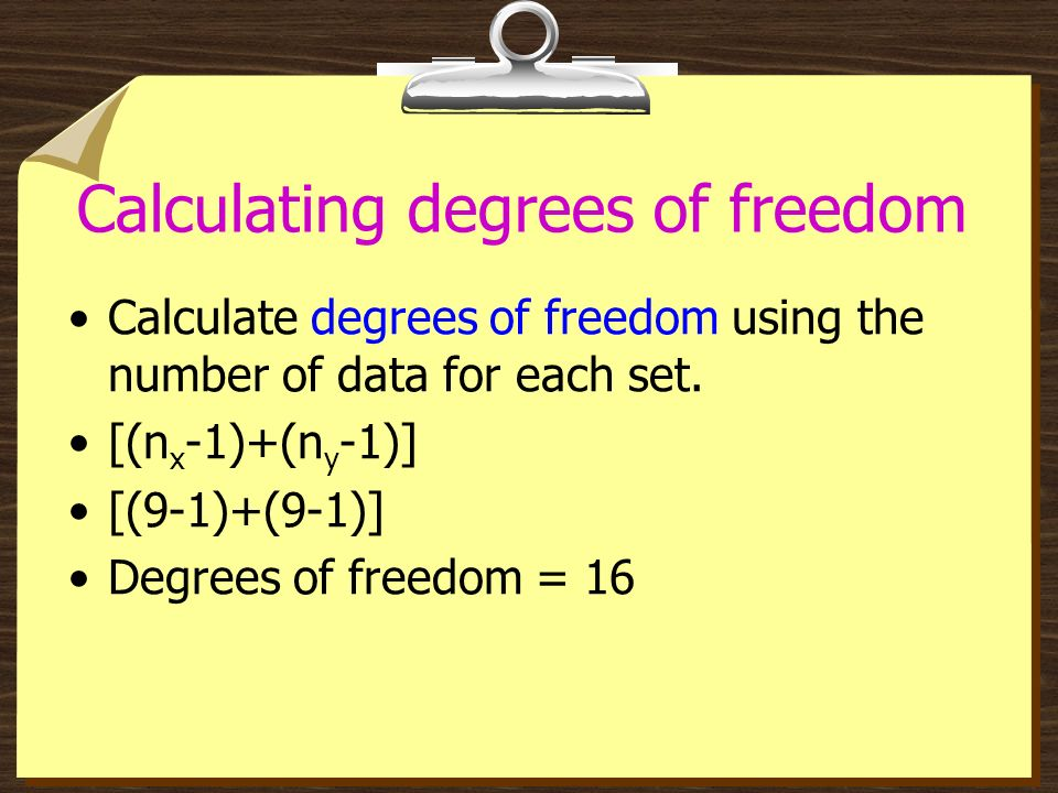 Calculating degrees of freedom