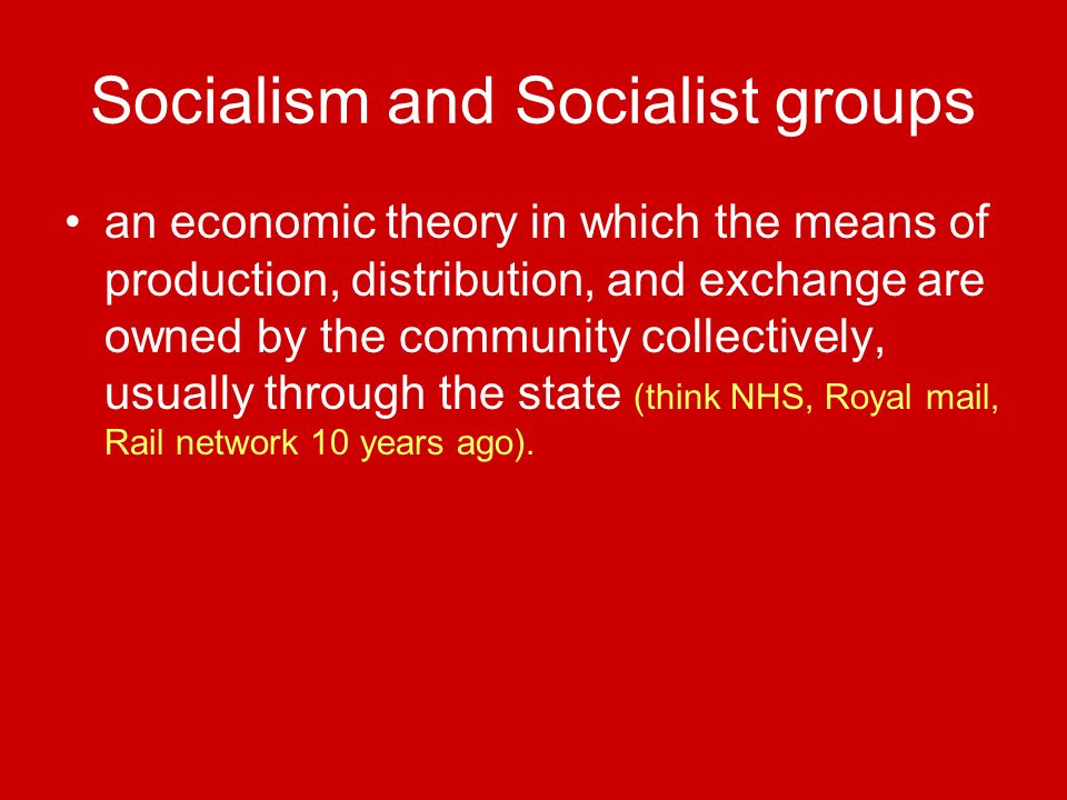 Socialism and Socialist groups