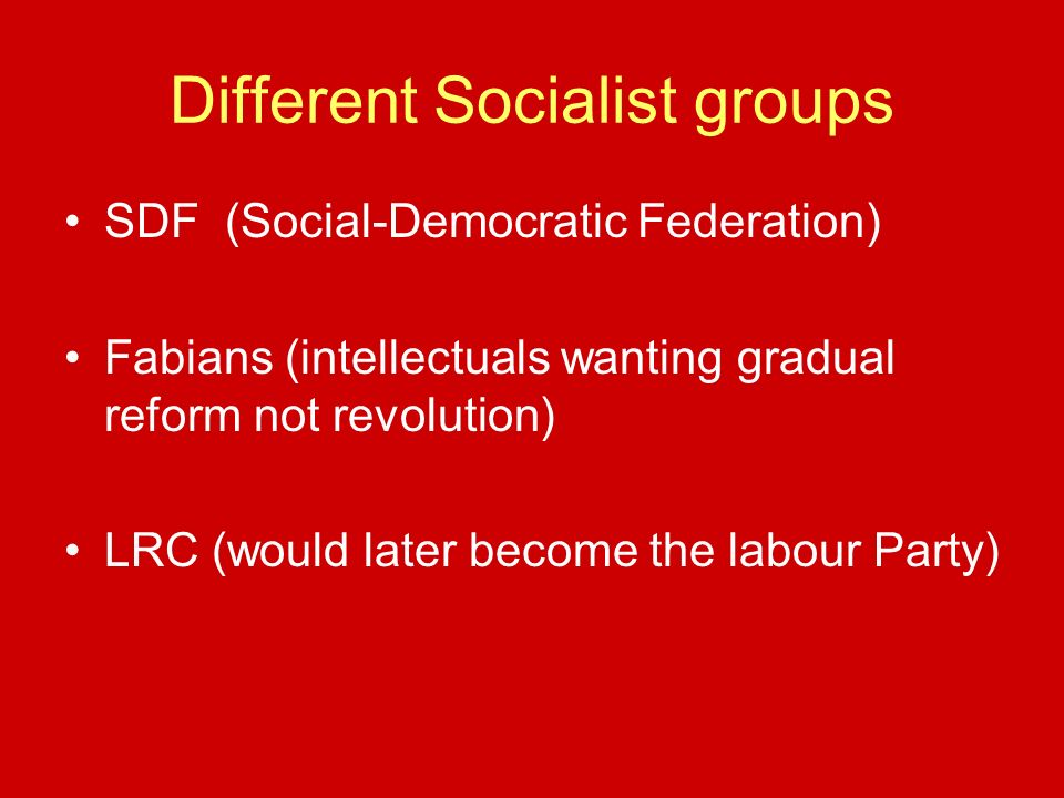 Different Socialist groups