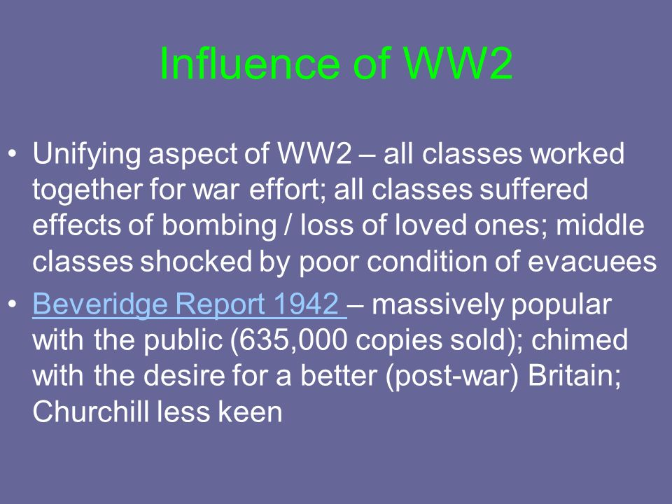 Influence of WW2