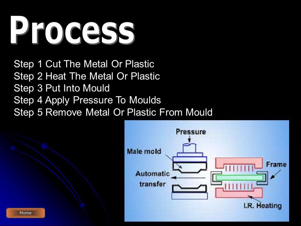 Process Step 1 Cut The Metal Or Plastic