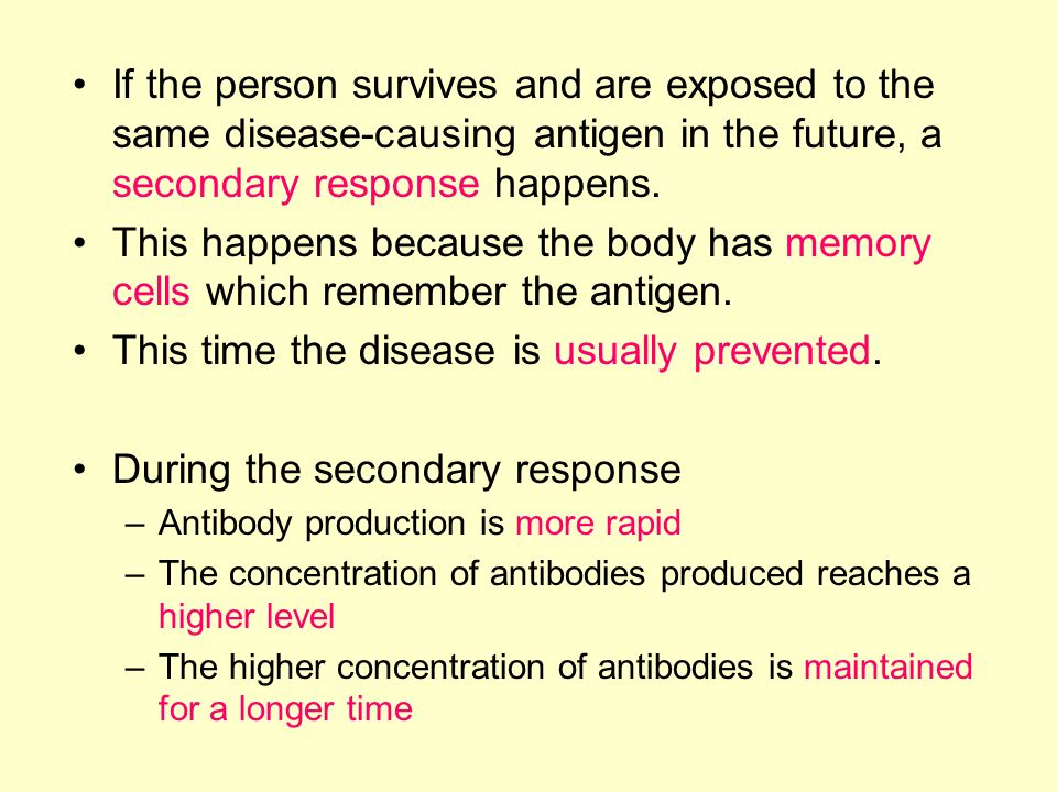 This time the disease is usually prevented.