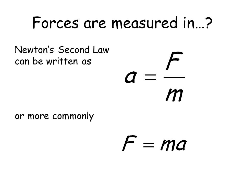Forces are measured in…
