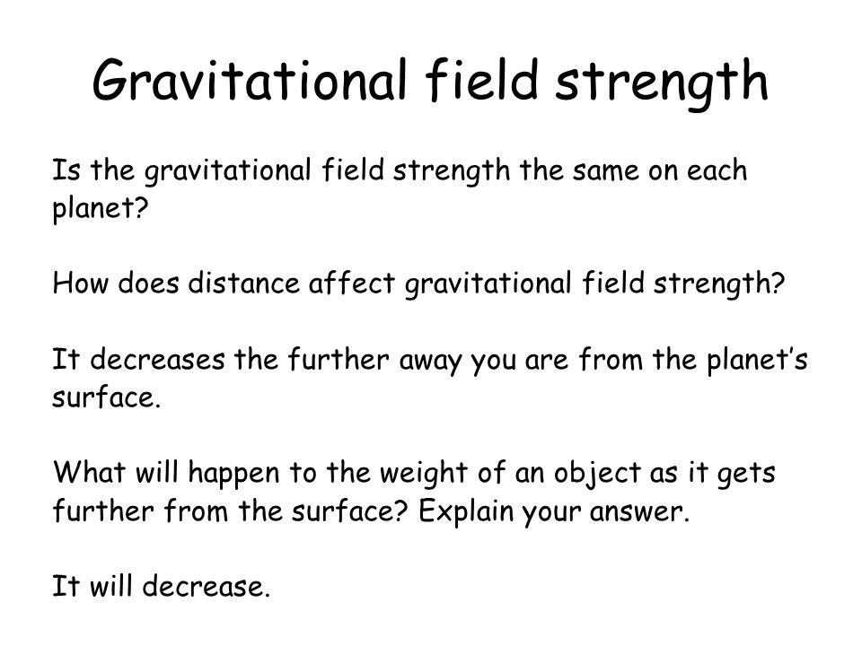 Gravitational field strength