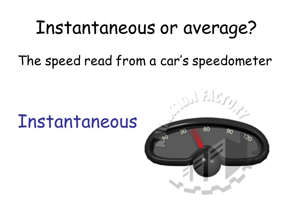 Instantaneous or average