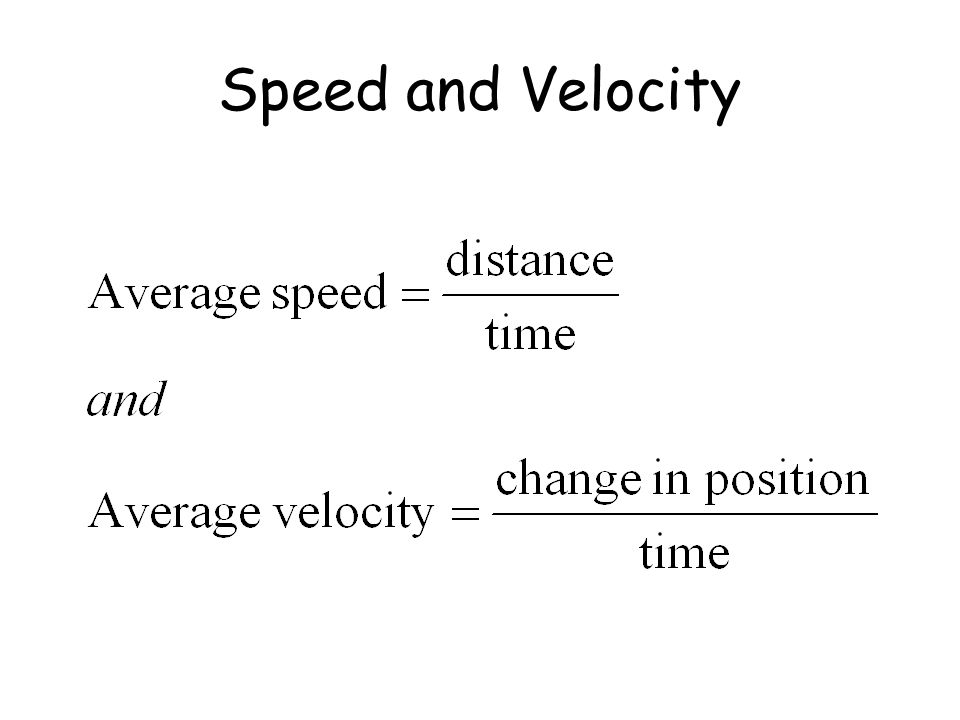 Speed and Velocity Print for lab books