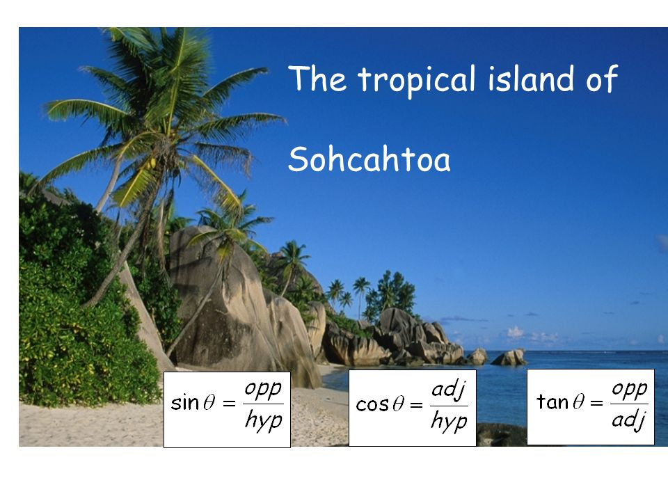 The tropical island of Sohcahtoa Print for lab books
