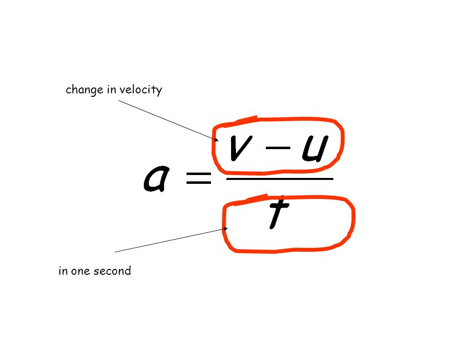 change in velocity in one second